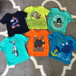 Bundle of 6 Boys 2T T-shirts
